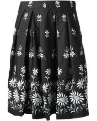 Moschino Floral Embroidered Skirt - Lyst