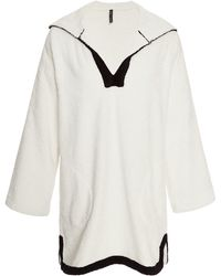 Lisa Marie Fernandez Hooded Terry Tunic  - Lyst