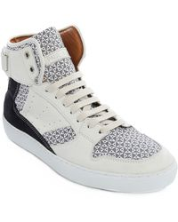 Paul & Joe Hoop White High-Top Leather Sneakers - Lyst