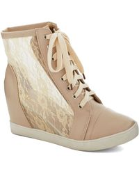 ModCloth Lace Your Steps Bootie - Lyst