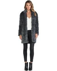 Charles Henry Faux Fur Cocoon Coat - Lyst