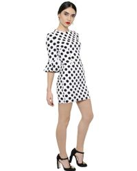 Dolce & Gabbana Polka Dot Printed Viscose Cady Dress - Lyst