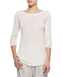 ATM Cashmere Boat-Neck Sweater - Lyst