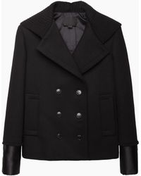 Alexander Wang | Hooded Double Breasted Peacoat | Lyst