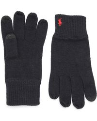 Polo Ralph Lauren - Logo Knit Gloves - Lyst