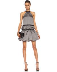 Christopher Kane Crinkle  Nylon Ruched Halter Dress - Lyst