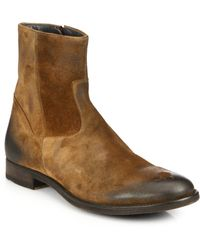 To Boot Greyson Suede Zip-Up Boots - Lyst