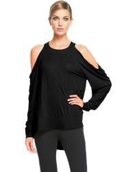 Donna Karan New York Long Sleeve Cold Shoulder Tunic - Lyst