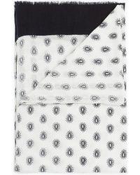 Zara Paisley Print Scarf - Lyst