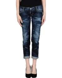 DSquared² Denim Capris blue - Lyst