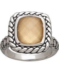 Lord & Taylor - Sterling Silver And Quartz Doublet Ring - Lyst