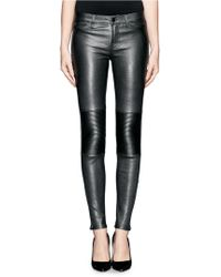 J Brand Nicola Leather Pants - Lyst