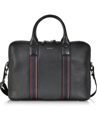 Paul Smith - Black Leather City Webbing Business Folio - Lyst