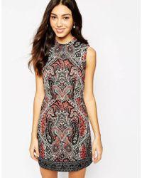 Oasis Paisley Mirror Print Dress - Lyst