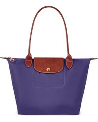 Longchamp Le Pliage Small Shopper Amethyst - Lyst