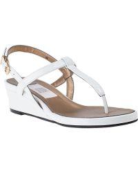 Vaneli For Jildor Kaffle Wedge Sandal White Patent - Lyst