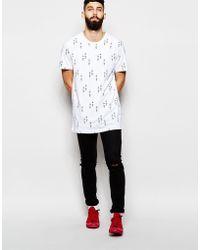WÅVEN - T-shirt Baard Longline All Over Print - Lyst