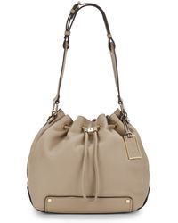 Vince Camuto Drawstring Leather Bucket Bag - Lyst