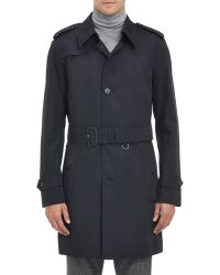 Aquascutum Single-Breasted Tolkien Trench Coat blue - Lyst