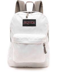 Jansport - Classic Superbreak Backpack - White - Lyst