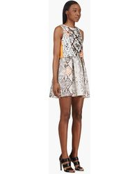 MSGM Grey Scale Embellished Python Dress - Lyst