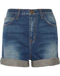 Current/Elliott The Short West Coast Charmer Denim Shorts - Lyst