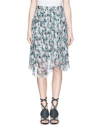 Prabal Gurung Mineral Print Silk Crepe Circle Skirt - Lyst
