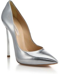 Casadei | Metallic Leather Blade-heel Pumps | Lyst