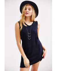Truly Madly Deeply - Splitarm Distressed Tee Dress - Lyst