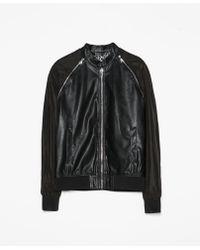 Zara Jacket with Zips On Shoulders - Lyst