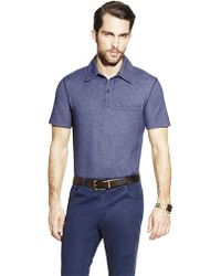 Vince Camuto Blue Polo Shirt - Lyst