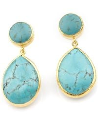 Toosis Blue Turquoise Earrings - Lyst