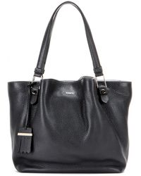 Tod's Flower Leather Tote - Lyst