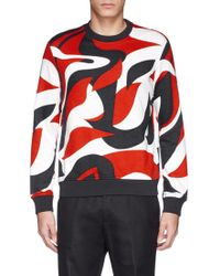 Alexander McQueen Abstract Print Sweatshirt - Lyst