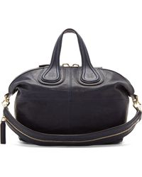 Givenchy Navy Zanzi Leather Nightingale Small Tote Bag - Lyst