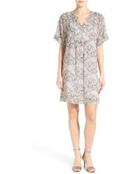Two By Vince Camuto - 'tunnel Ridges' Y-neck Swing Dress - Lyst