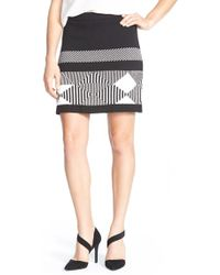 Two By Vince Camuto | Cotton Blend Jacquard Knit Miniskirt | Lyst