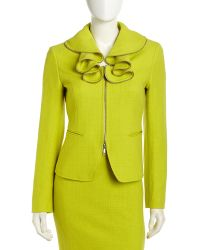 Lafayette 148 New York Hillary Ruffle Collar Jacket - Lyst