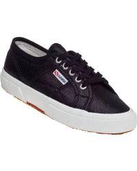 Superga 2750 Sneaker Black Glitter Lame - Lyst