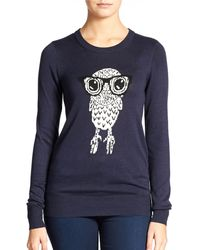 French Connection Owl Sweater - Lyst