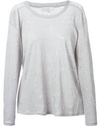 Iro Gray Distressed Sweater - Lyst