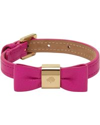 Mulberry Pink Bow Bracelet - Lyst