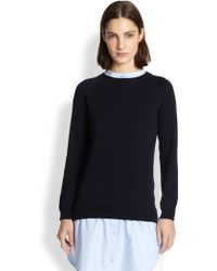 Carven Cotton Combo Knit Tunic - Lyst