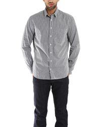 Blue&Cream Grey Macro Check Gingham Buttondown Shirt gray - Lyst
