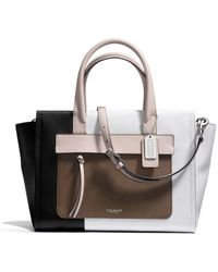 Coach Bleecker Riley Carryall in Colorblock Leather - Lyst