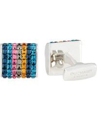 Duchamp Seven Stripe Crystal Cufflinks - Lyst