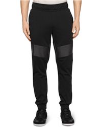 Calvin Klein Ck One Faux-Leather Slim-Fit Jogger Pants - Lyst