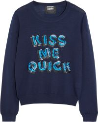 Markus Lupfer Kiss Me Quick Sequined Merino Wool Sweater - Lyst