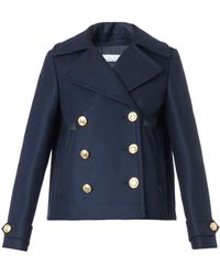 Altuzarra Steppe Wool-Blend Pea Coat - Lyst