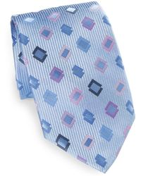 XMI Platinum - Geometric Print Silk Tie - Lyst